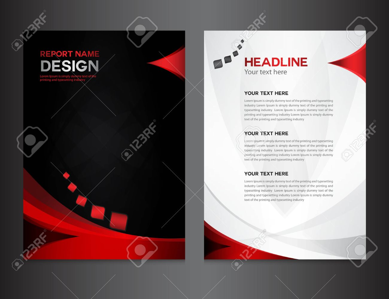 red annual report vector illustration cover design brochure vector red annual report vector illustration cover design brochure design template design graphic design vector illustration report cover