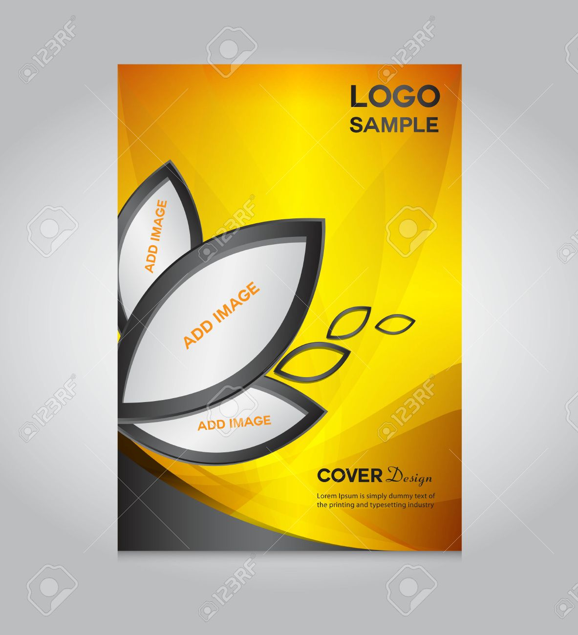 Gold Cover Design Template, Cover Design, Printing Design, Vector ...