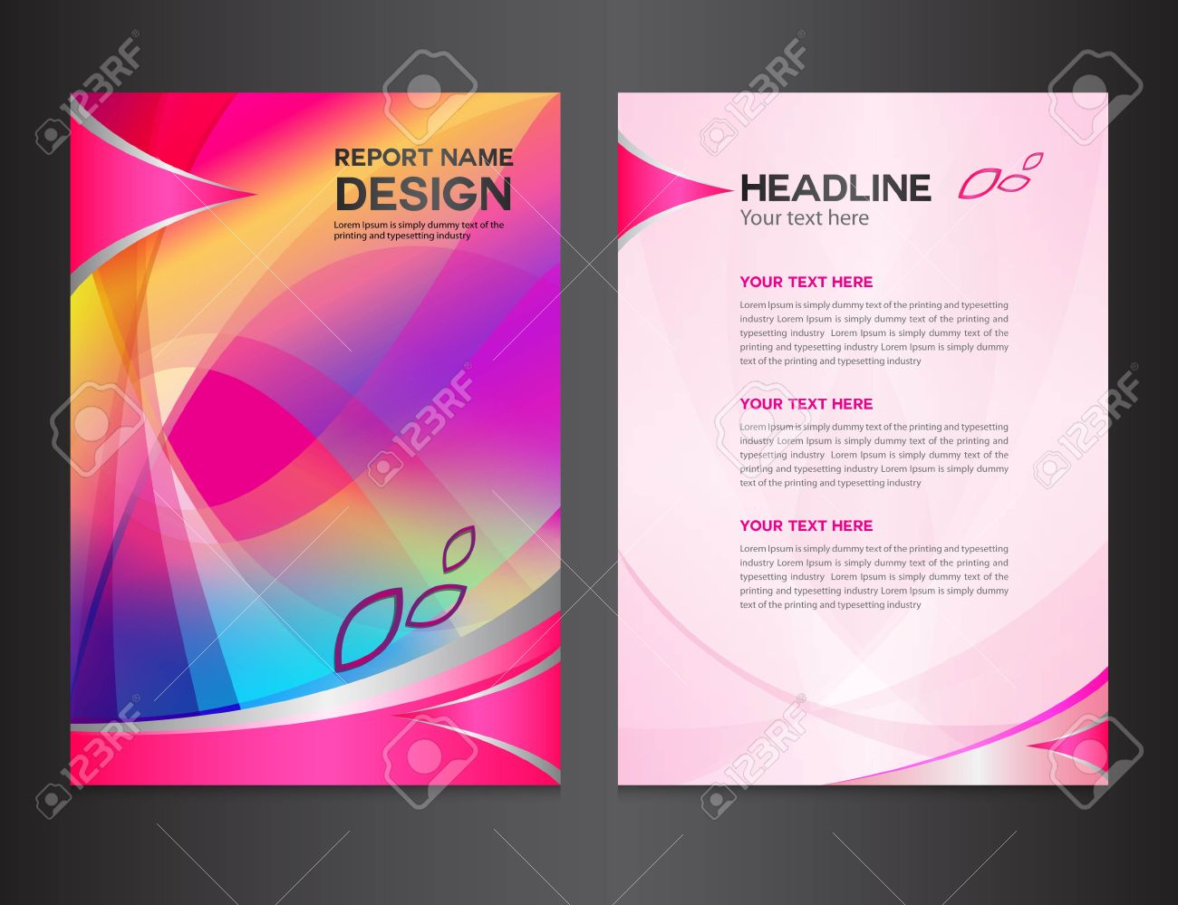 magazine cover on white stock photos images royalty magazine cover on white pink annual report vector illustration cover design brochure design