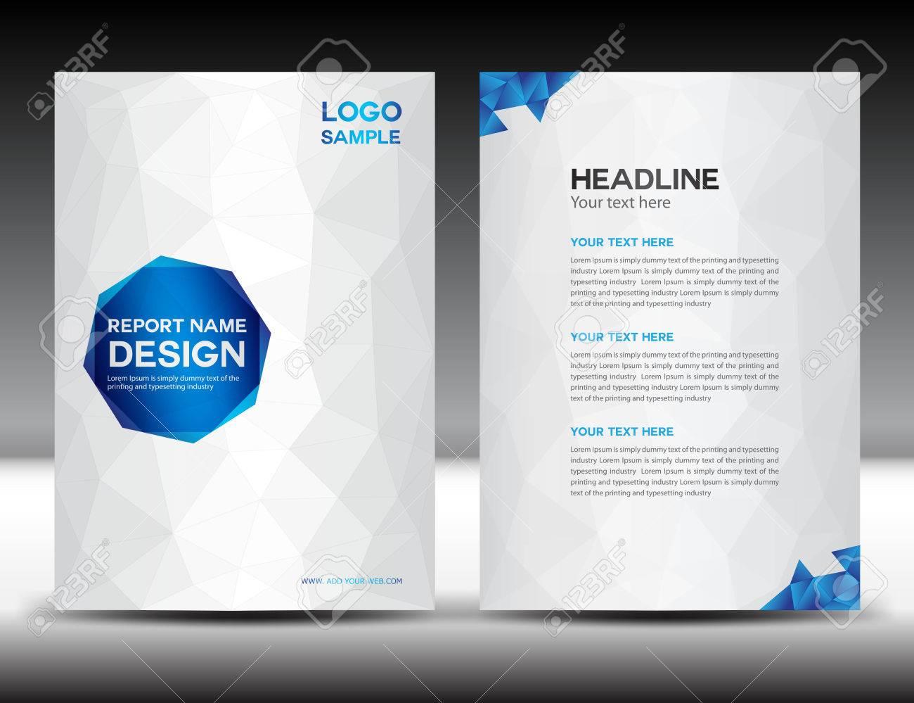 White Cover Jahresbericht Vorlage, Polygon Hintergrund, Broschüre ...