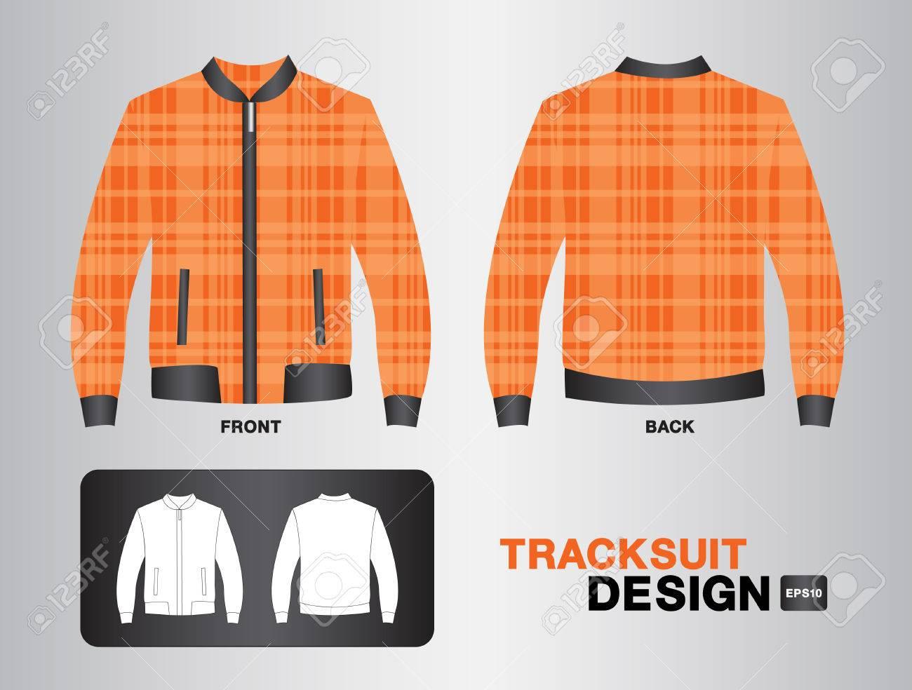 Shirt jacket design - Green Plaid Tracksuit Design Illustration Jacket Design Unifrom Design Clothing Sport Shirt