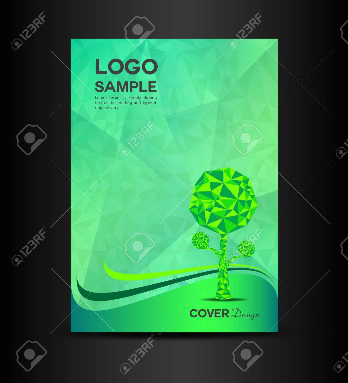 green eco cover design illustration book cover design eco