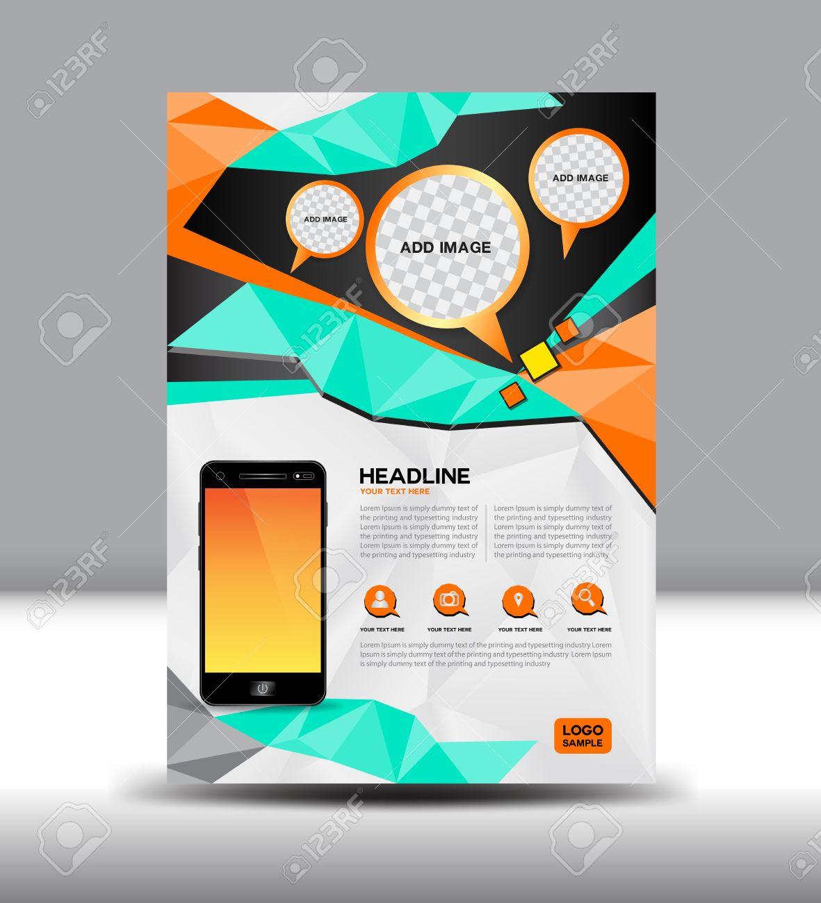 Vector Broschüre Magazin Mobile Layout Prospekt Design