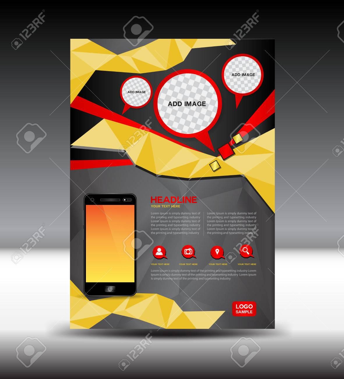 Gold Und Schwarz Broschüre Magazin Mobile Layout Prospekt Design