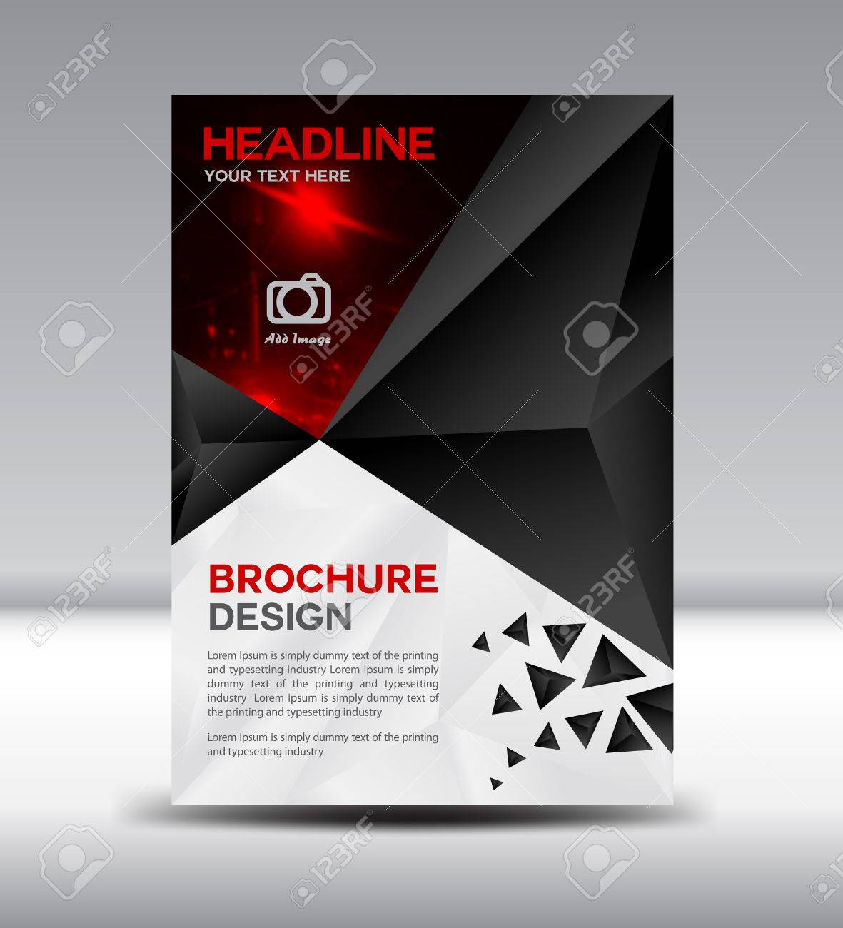 black brochure,cover design, magazine, template, leaflet design, Screen Printing Company Presentation Portfolio Template, Presentation templates
