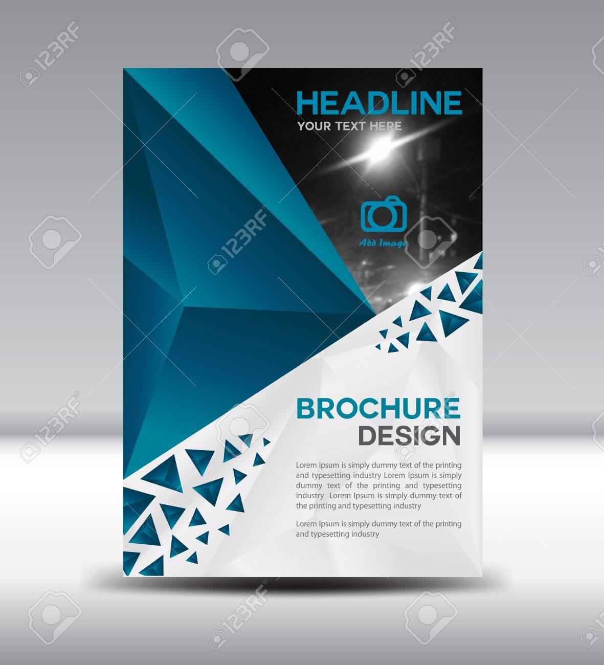Blue BrochureCover Design Magazine Template Leaflet Design – Annual Report Cover Page Template