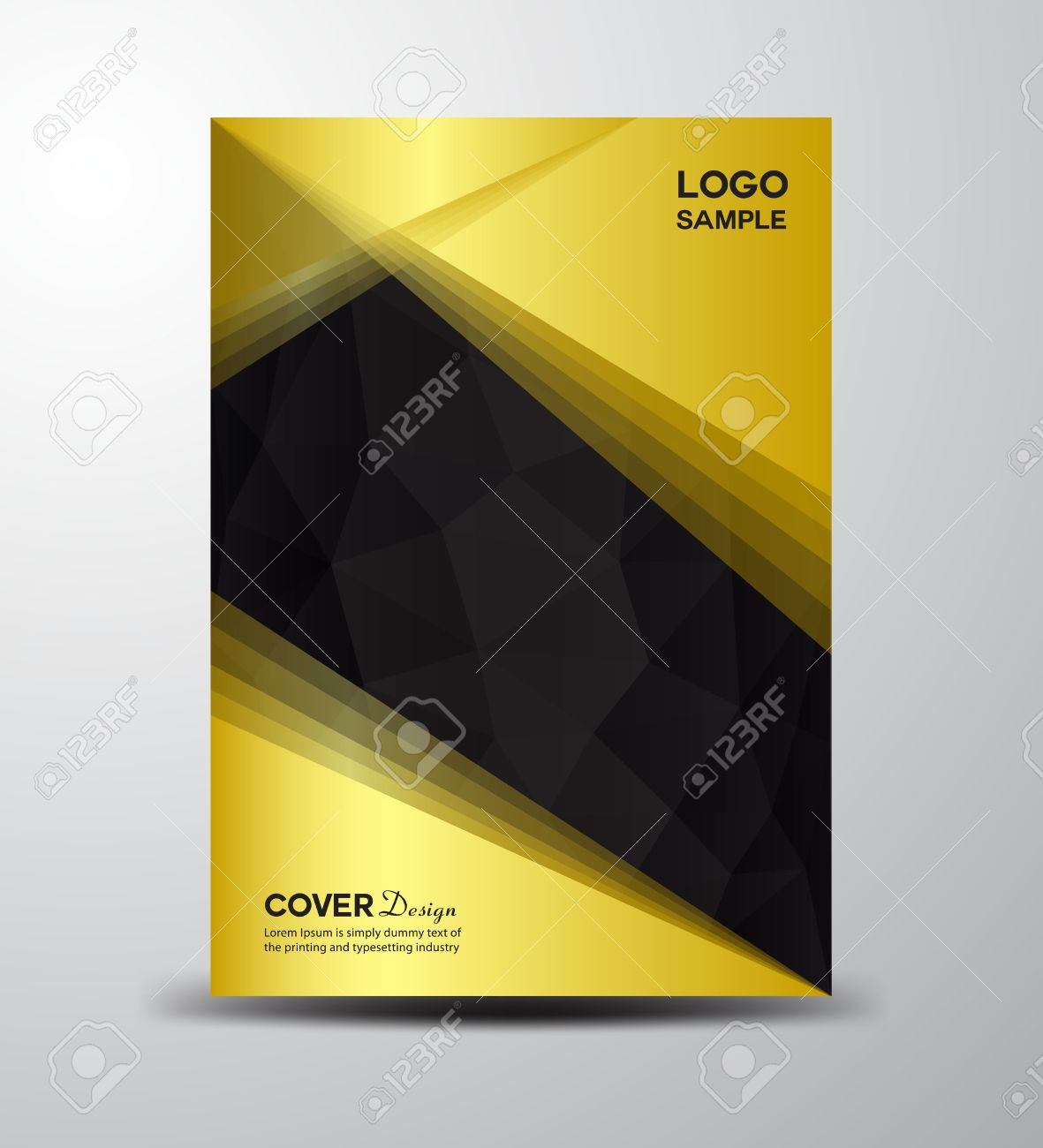 Gold And Black Cover Design ,cover Annual Report, Brochure ...
