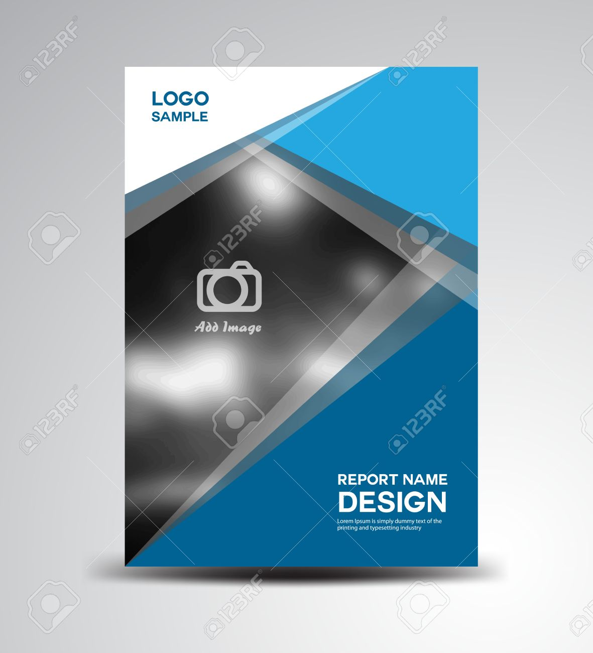 blue cover annual reportcover design brochure design fl yer brochure design