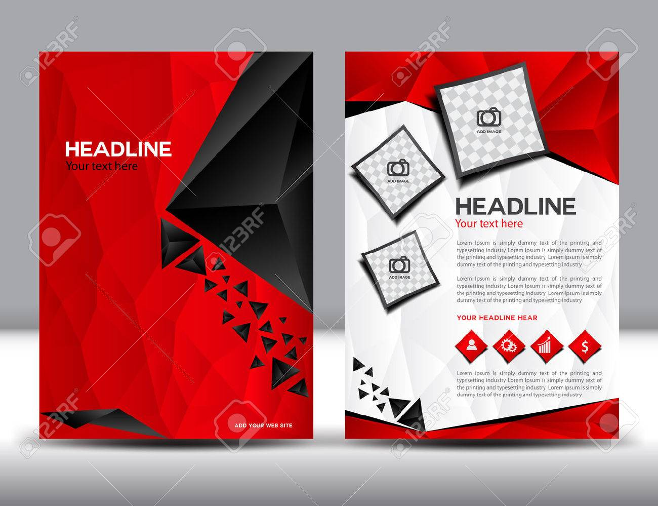 red business brochure design layout template brochure design templatescover design annual report