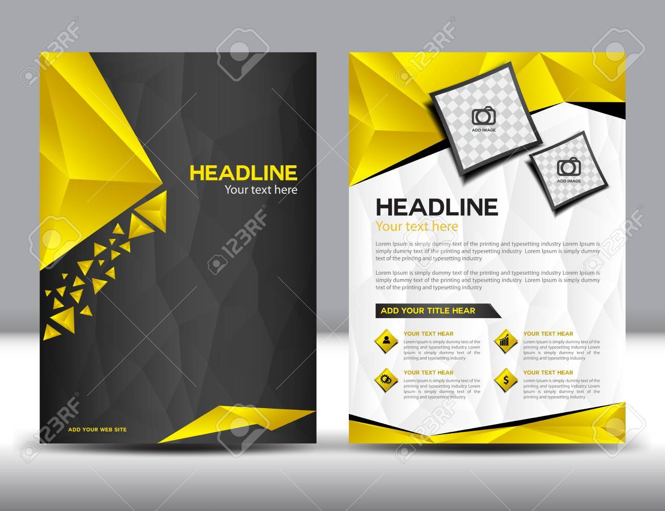 Black And Yellow Business Brochure Design Layout Template Brochure