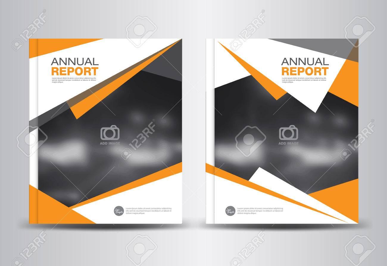 orange annual report template polygon background brochure design orange annual report template polygon background brochure design cover template fl