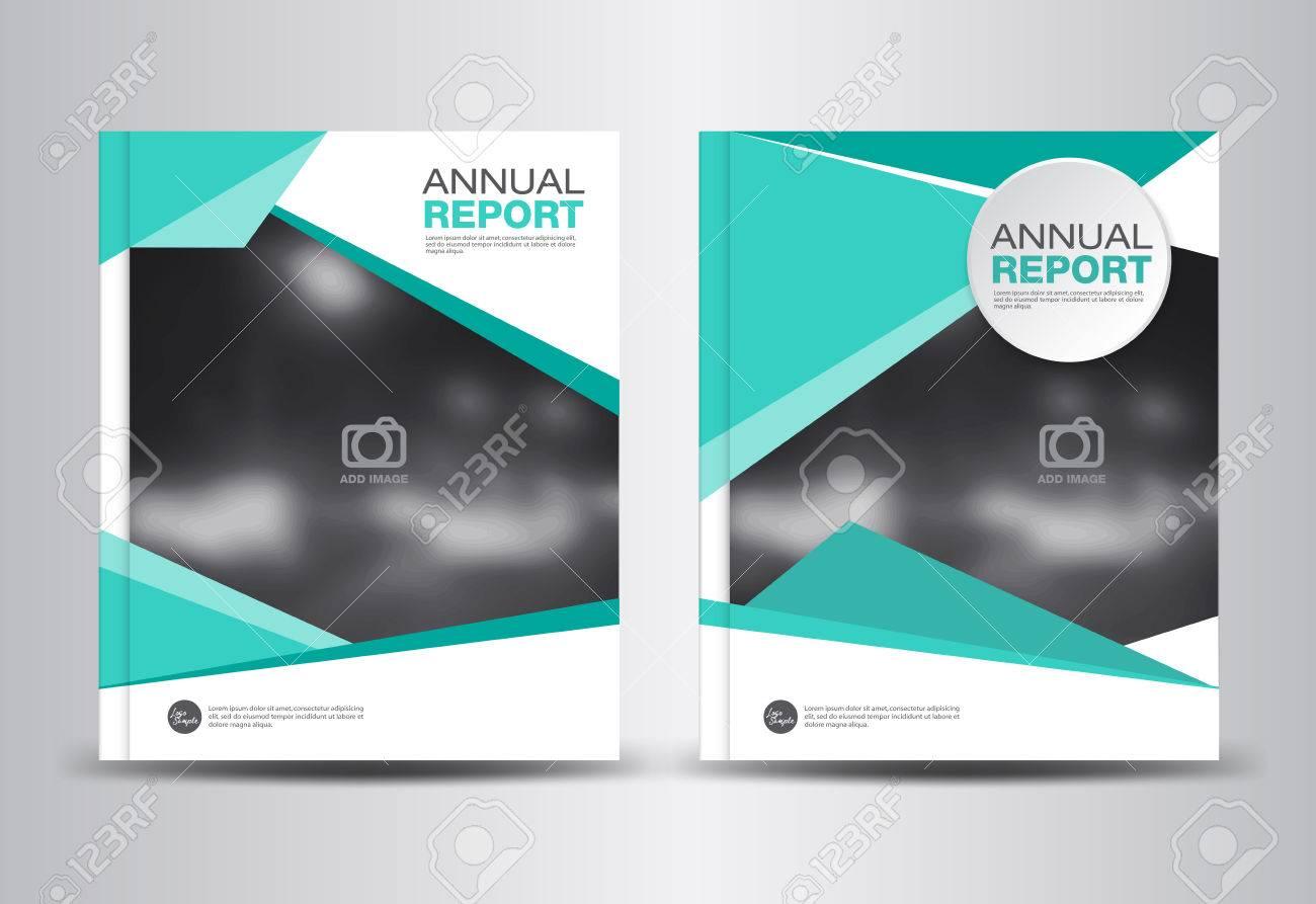 annual report template polygon background brochure design cover