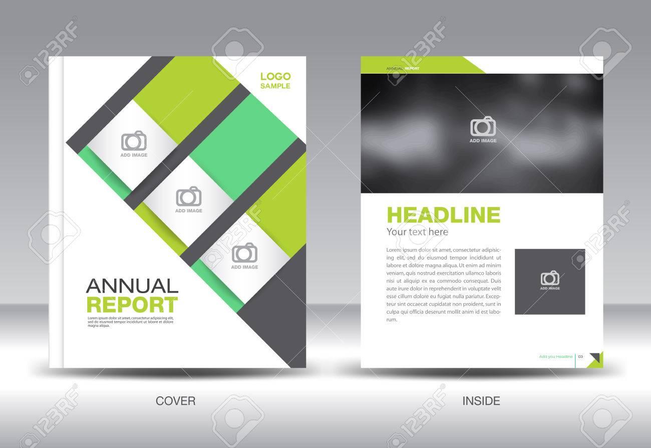 green annual report template brochure design cover template fl yer