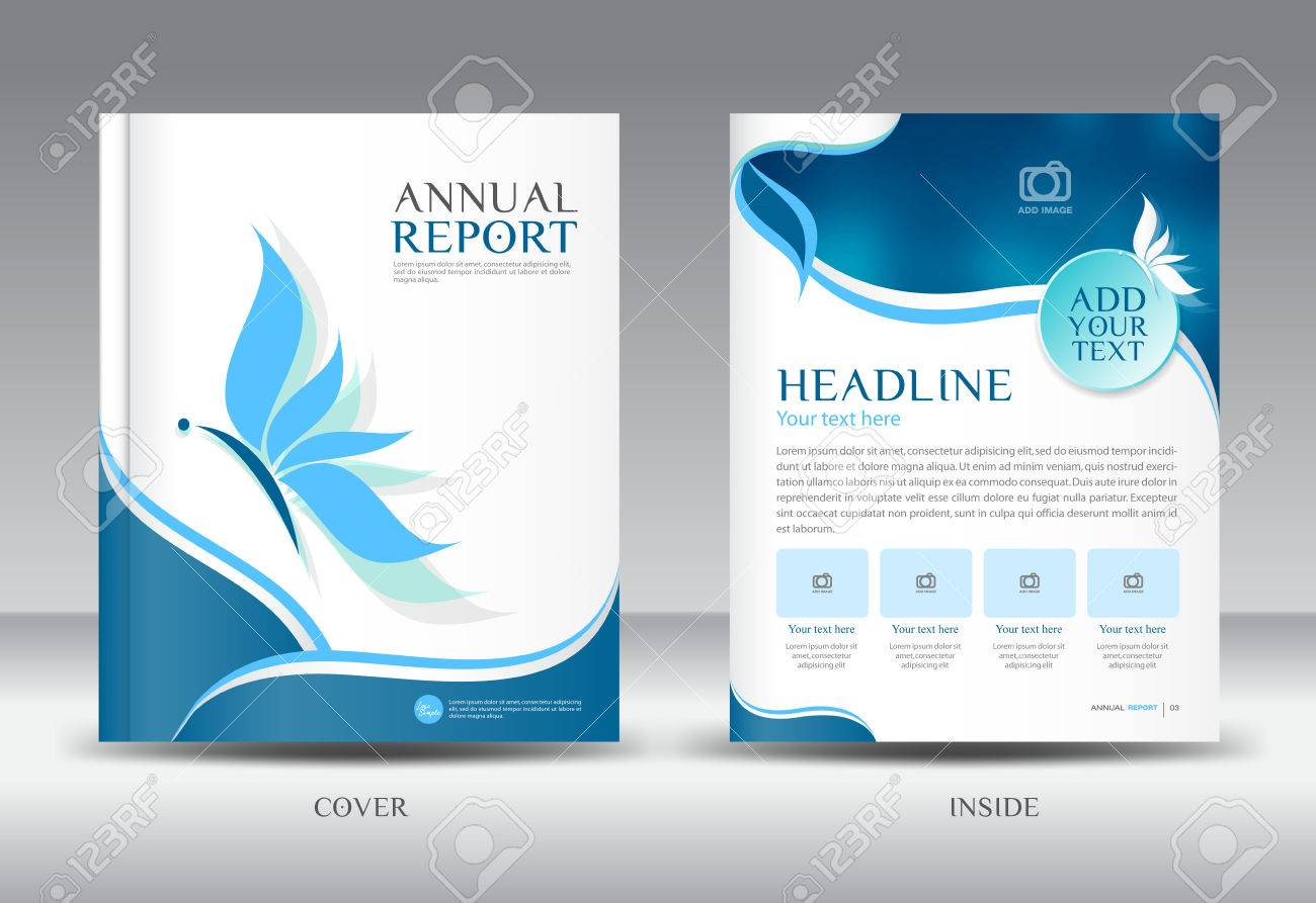 Blue Annual Report Template Illustration,Brochure Template,cover Design  Stock Vector   54421855