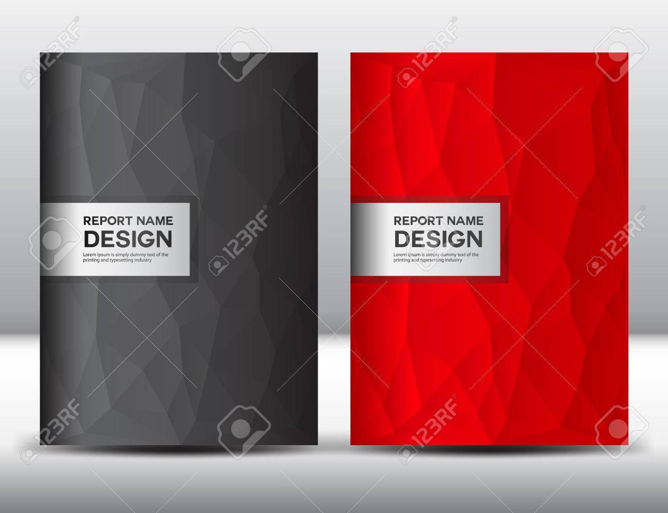 赤と黒を設定テンプレート 年次報告書 パンフレット フロリダ ヤー