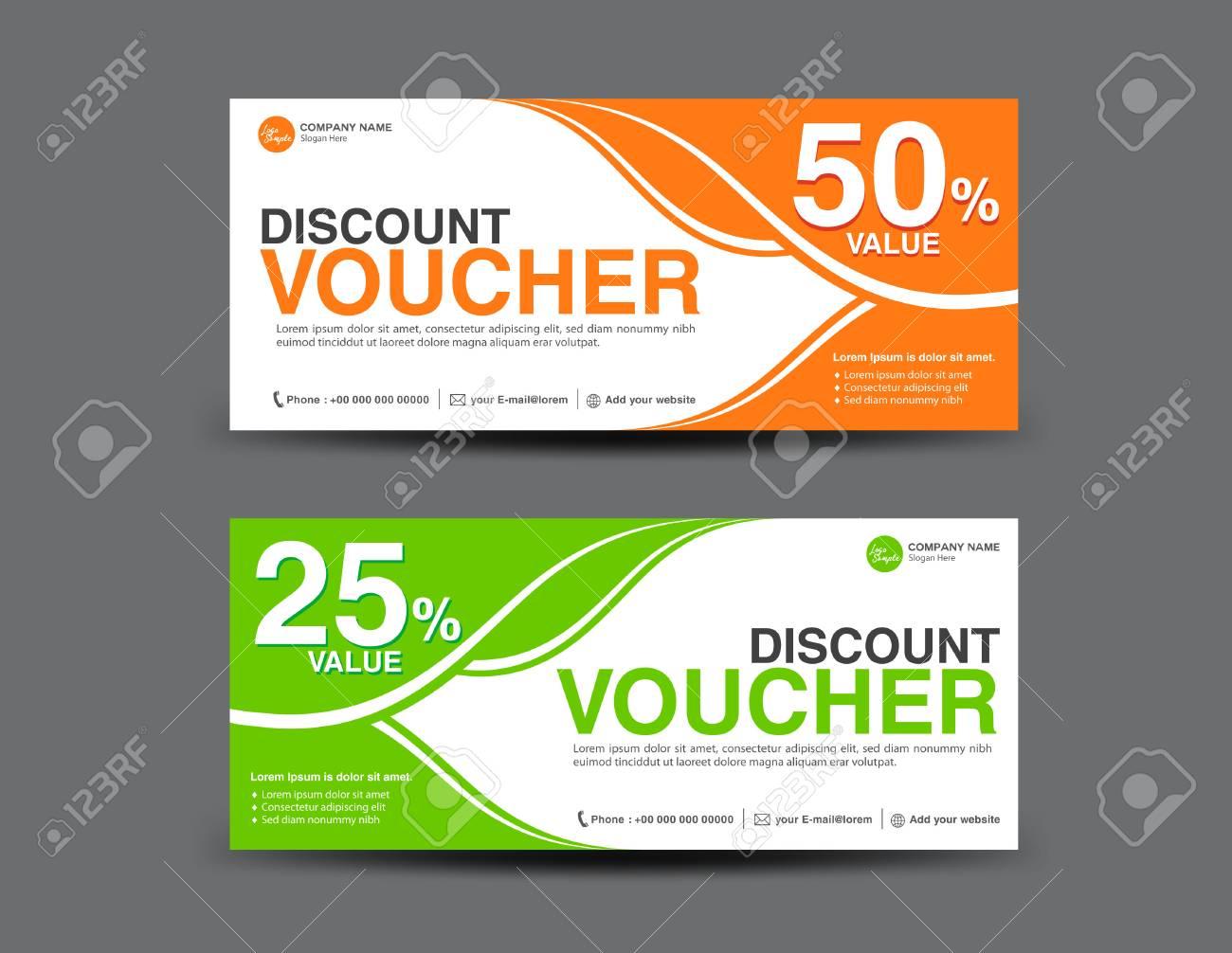 discount voucher template coupon design ticket card design gift