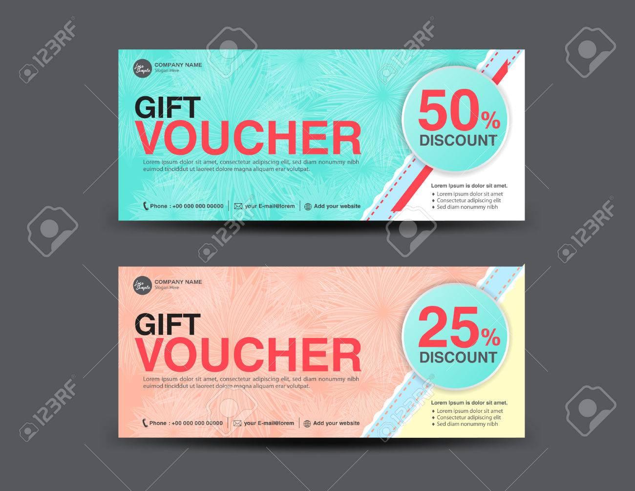 Discount Voucher Template Coupon Design Ticket Get Discount Ticket