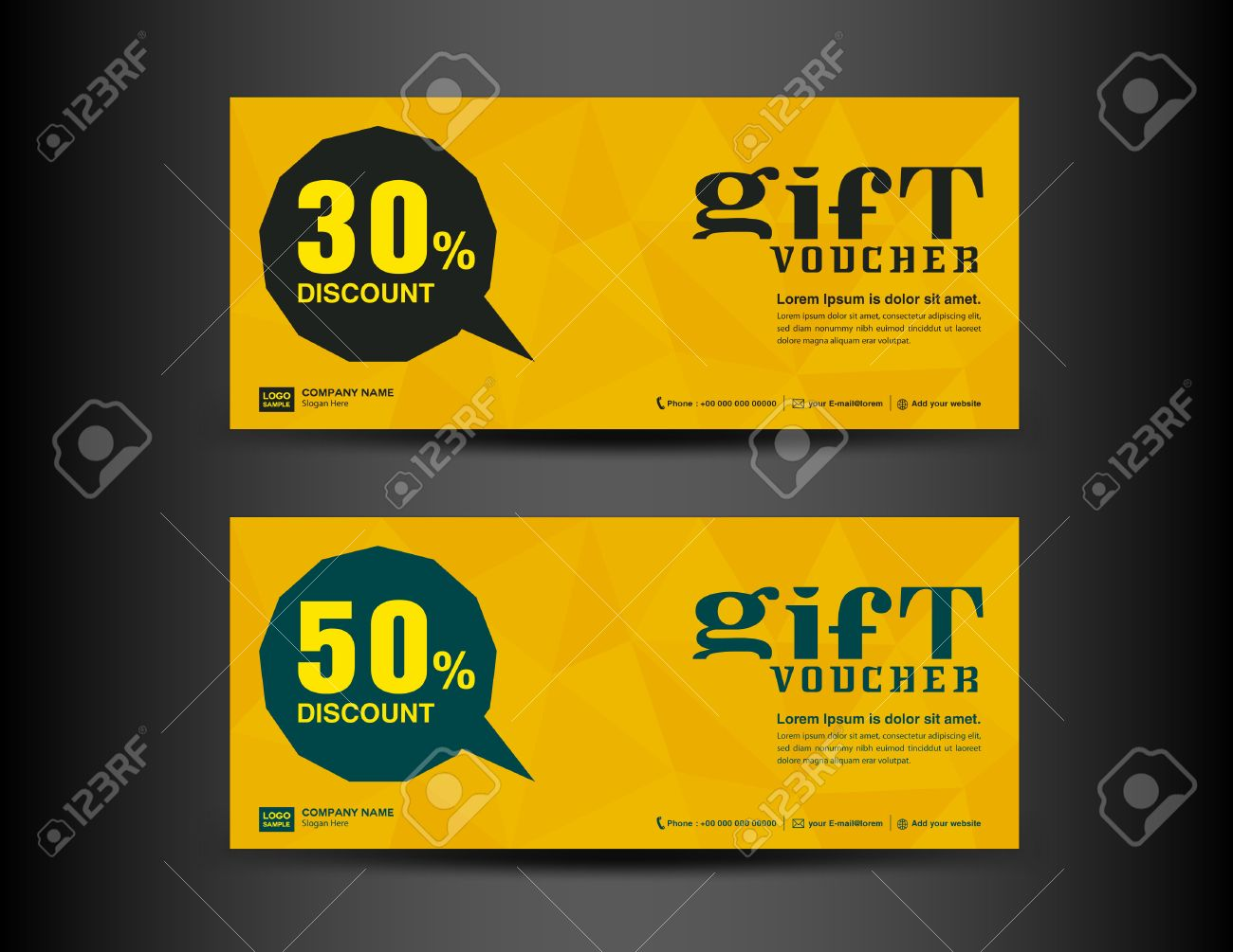 Yellow Discount Voucher Template Coupon Designticket Bannercards