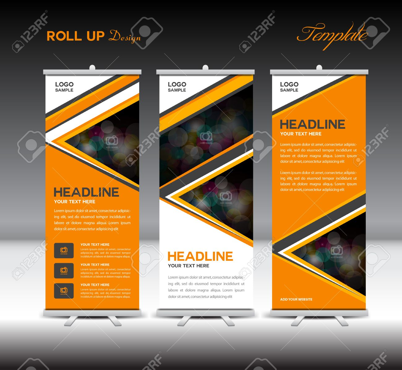 orange up banner template stand template advertisement layout orange up banner template stand template advertisement layout design banner template stock vector 56069838