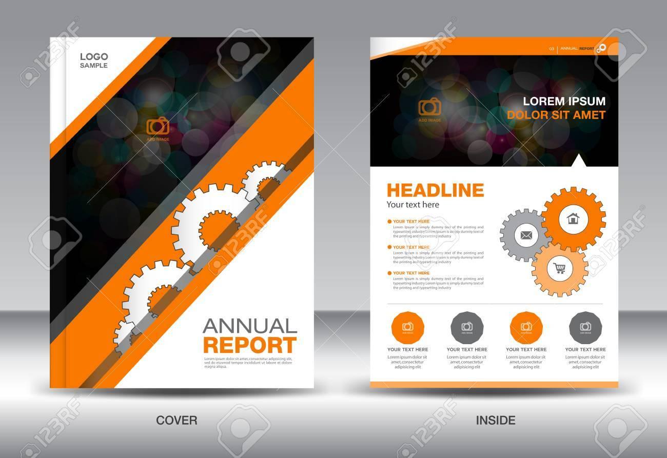 orange annual report template brochure design cover template fl yer