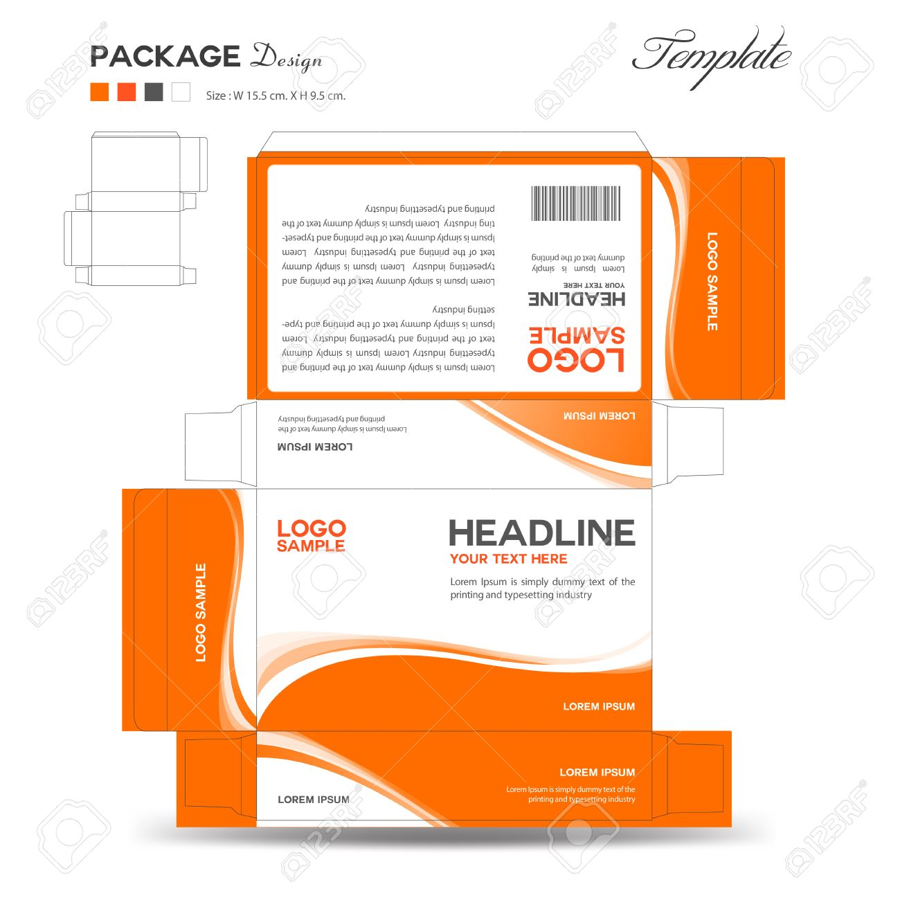 Supplements And Cosmetic Box Design Package Design Template Box