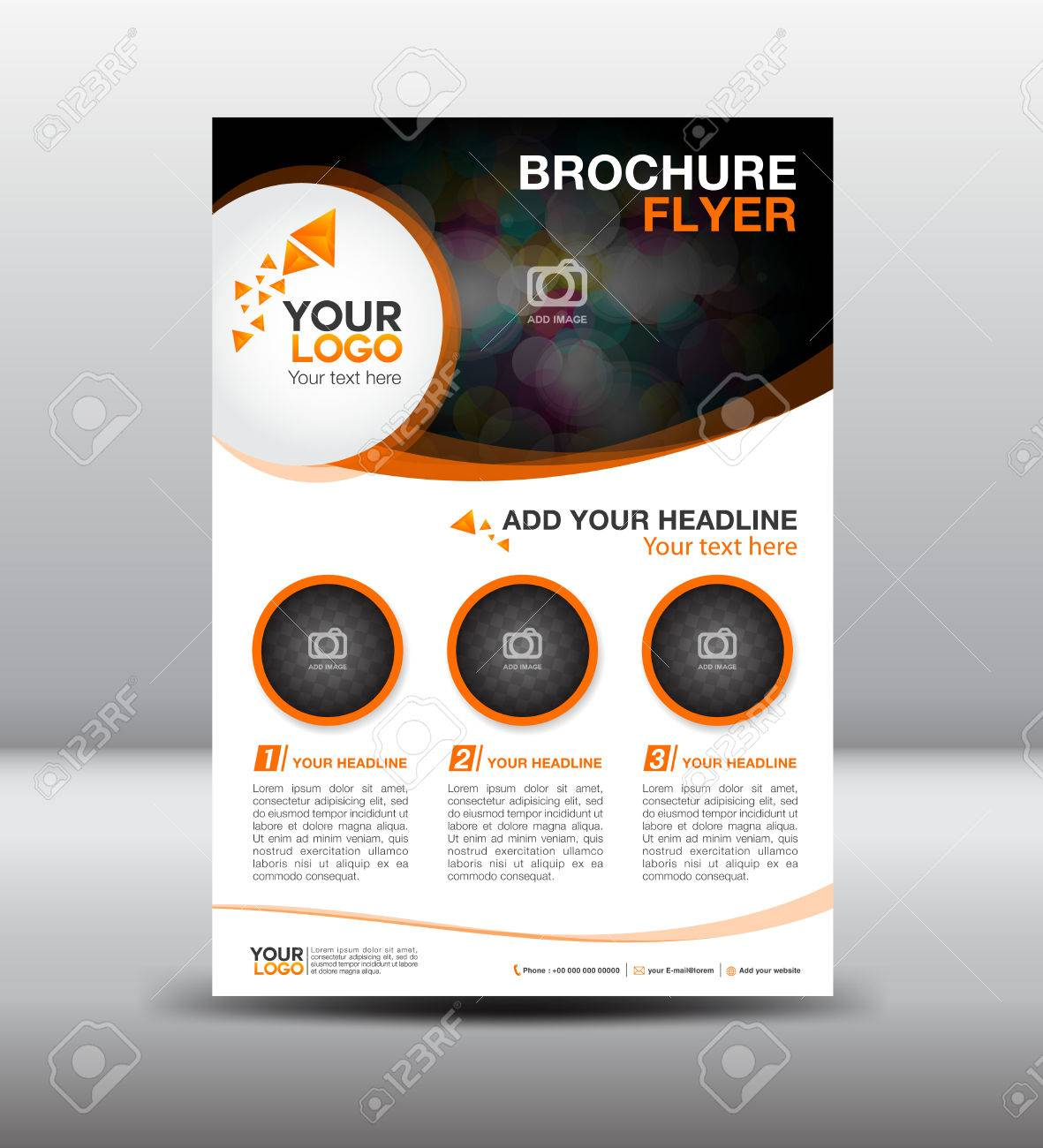 Business Brochure Flyer Design Layout Template In A4 Size Newsletter Royalty Free Cliparts Vectors And Stock Illustration Image 56910048