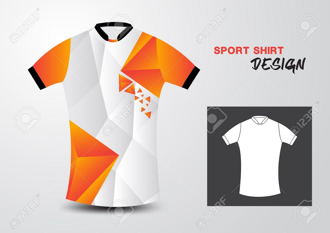 Design t shirt uniform - Orange And White Sport Shirt Design Polygon Vector Illustration Sport T Shirt Uniform