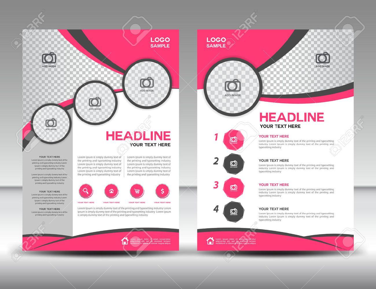 pink business brochure flyer design layout template in a4 size pink business brochure flyer design layout template in a4 size cover annual report