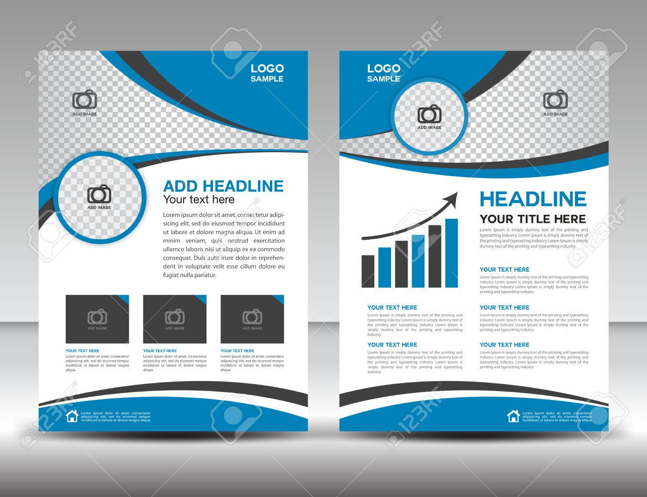 blue business brochure flyer design layout template in a size blue business brochure flyer design layout template in a4 size cover annual report
