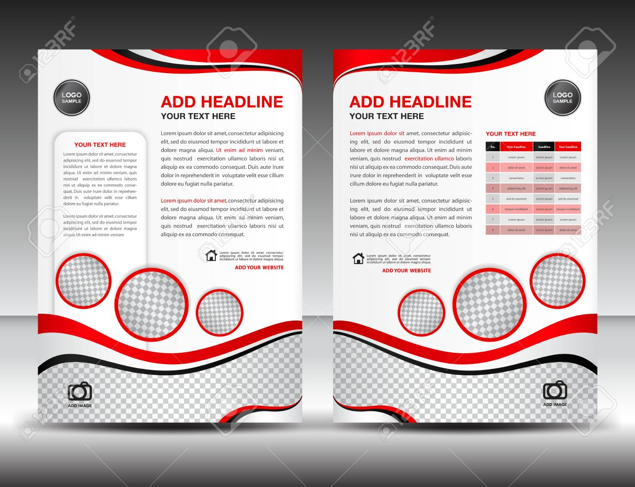 Poster design size - Red Business Brochure Flyer Design Layout Template In A4 Size Poster Leaflet Ads