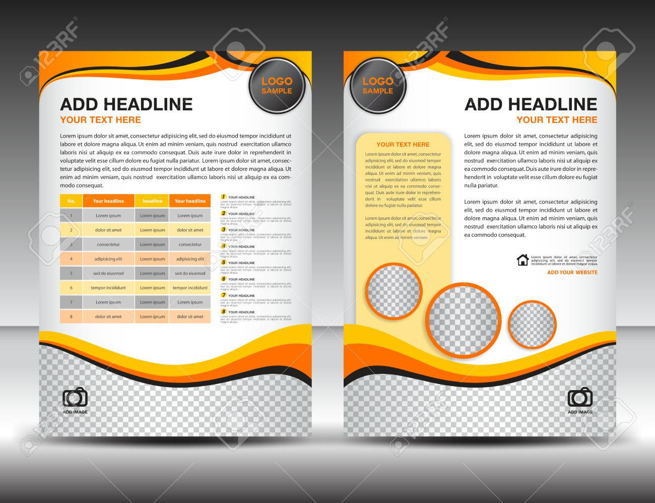 Yellow business brochure flyer design layout template in a4 size vector yellow business brochure flyer design layout template in a4 size poster leafletadsnewsletter cover annual report magazine ads catalogbook spiritdancerdesigns Images