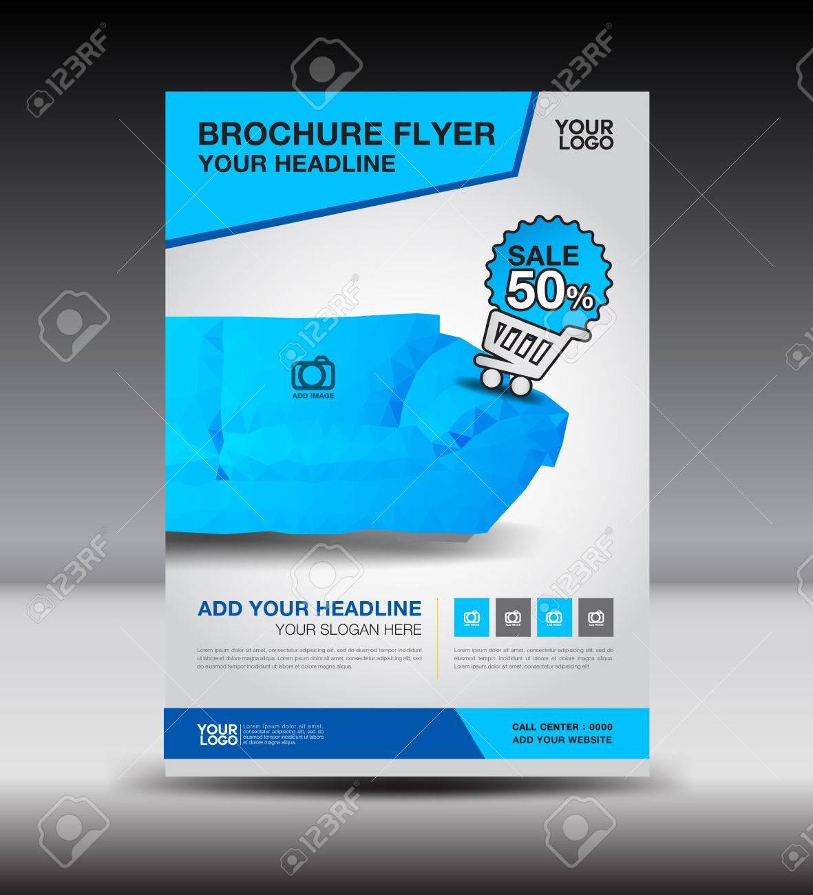 Flyer Plantilla De Diseño De Diseño De Folletos De Visita Azul De ...
