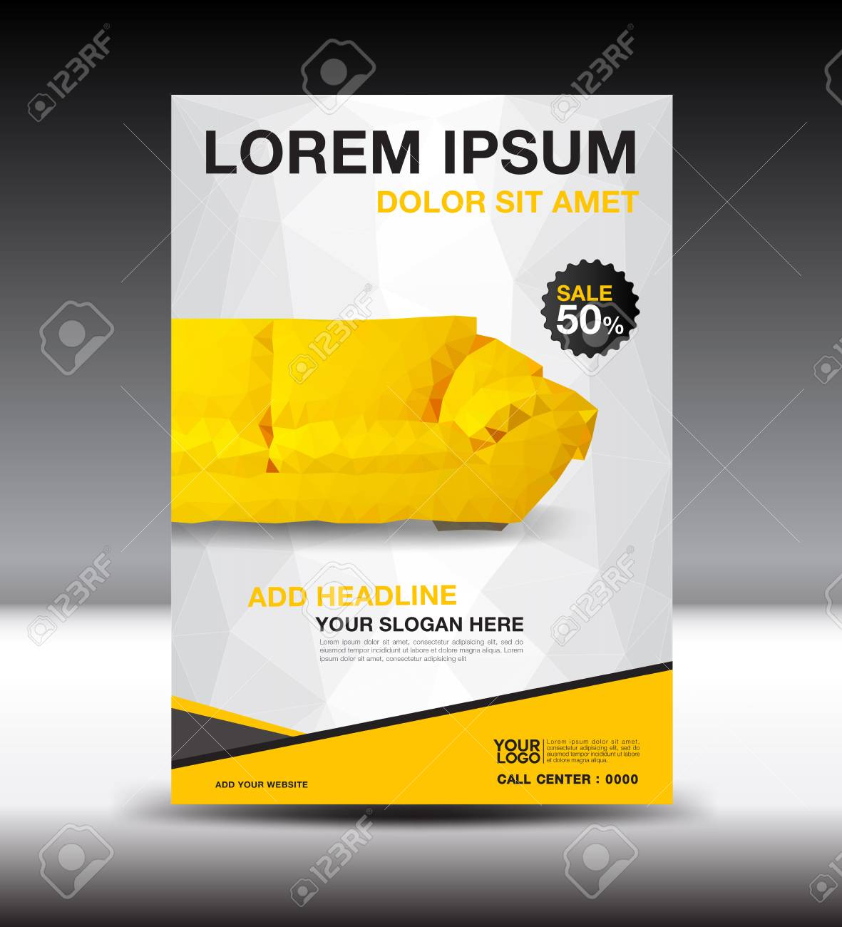 furniture sale ads. Yellow Business Brochure Flyer Design Layout Template In A4 Size, Furniture Magazine Ads, Poster Sale Ads