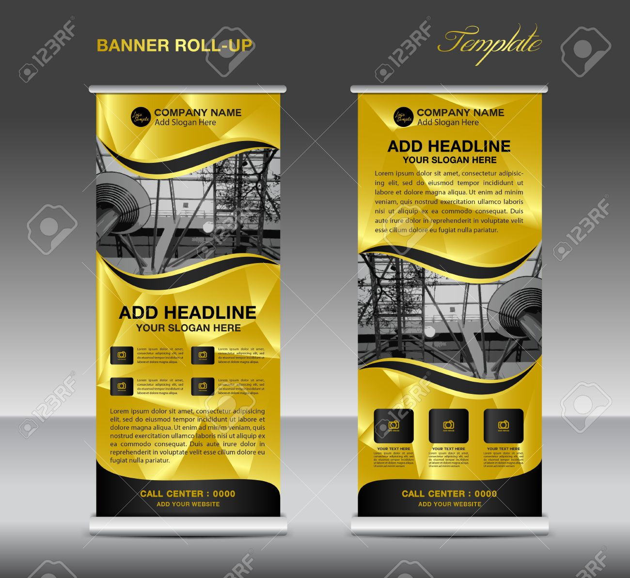 gold roll up banner template vector roll up stand banner design gold roll up banner template vector roll up stand banner design flyer