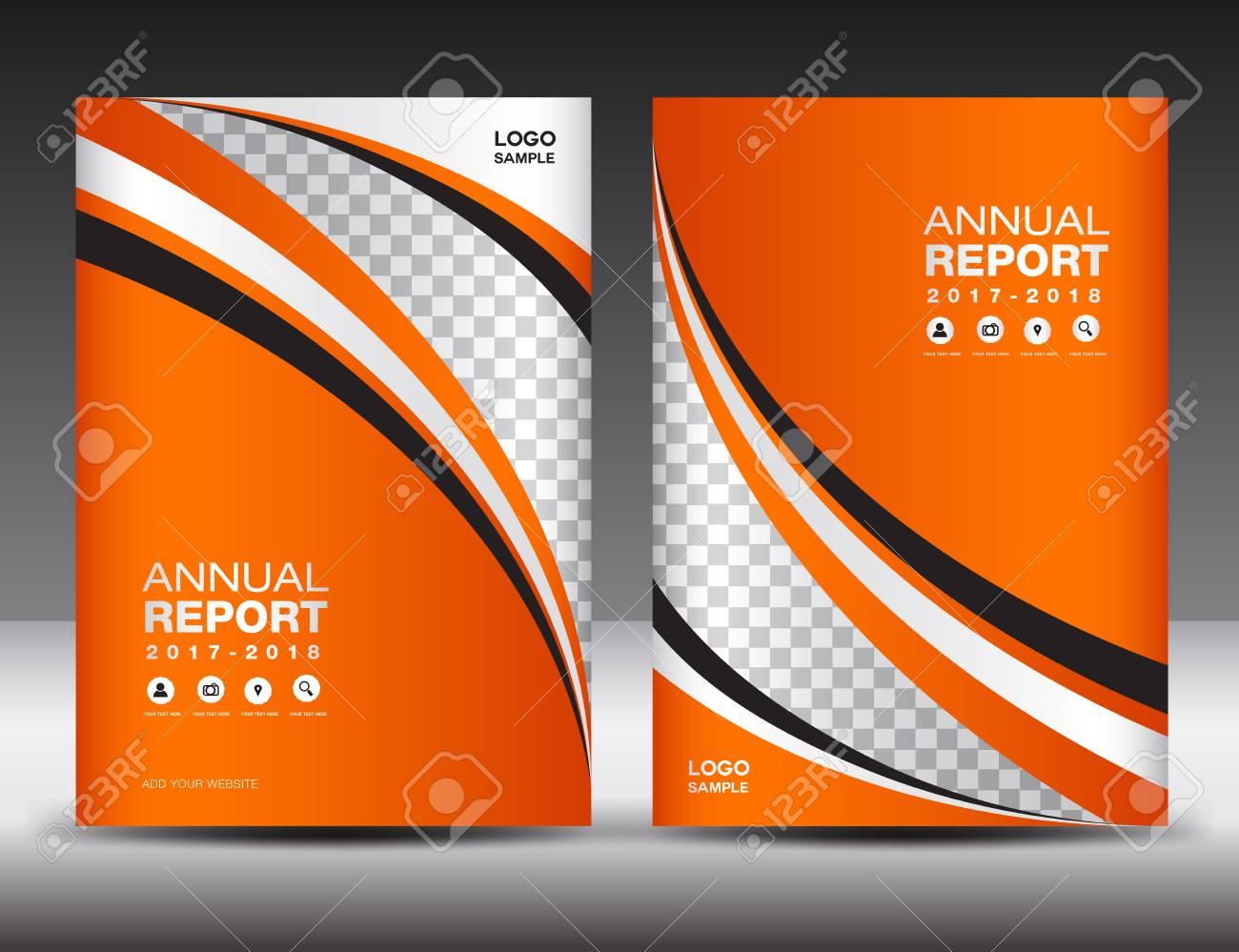 orange cover template cover annual report cover design business