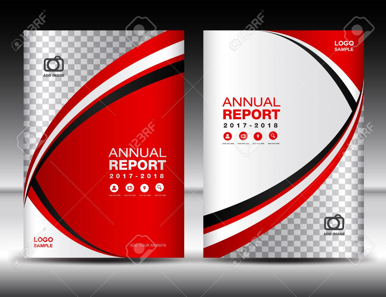 red cover template cover annual report cover design business