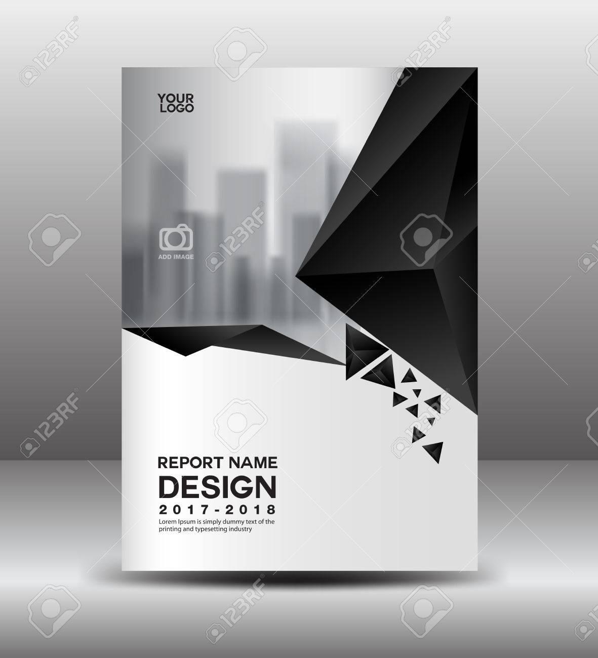 Cover Design Annual Report Vector Illustration Business Brochure
