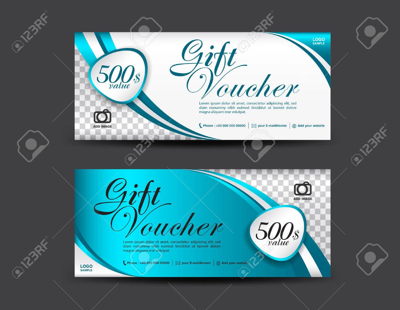 Blue gift voucher template coupon design gift certificate blue gift voucher template coupon design gift certificate ticket template discount voucher yadclub Image collections