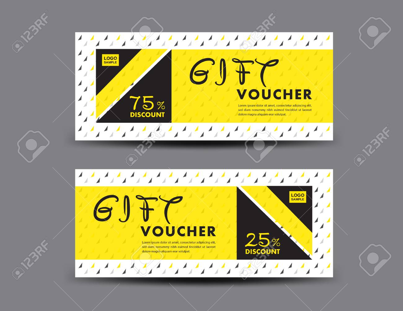 yellow discount voucher template coupon design ticket gift