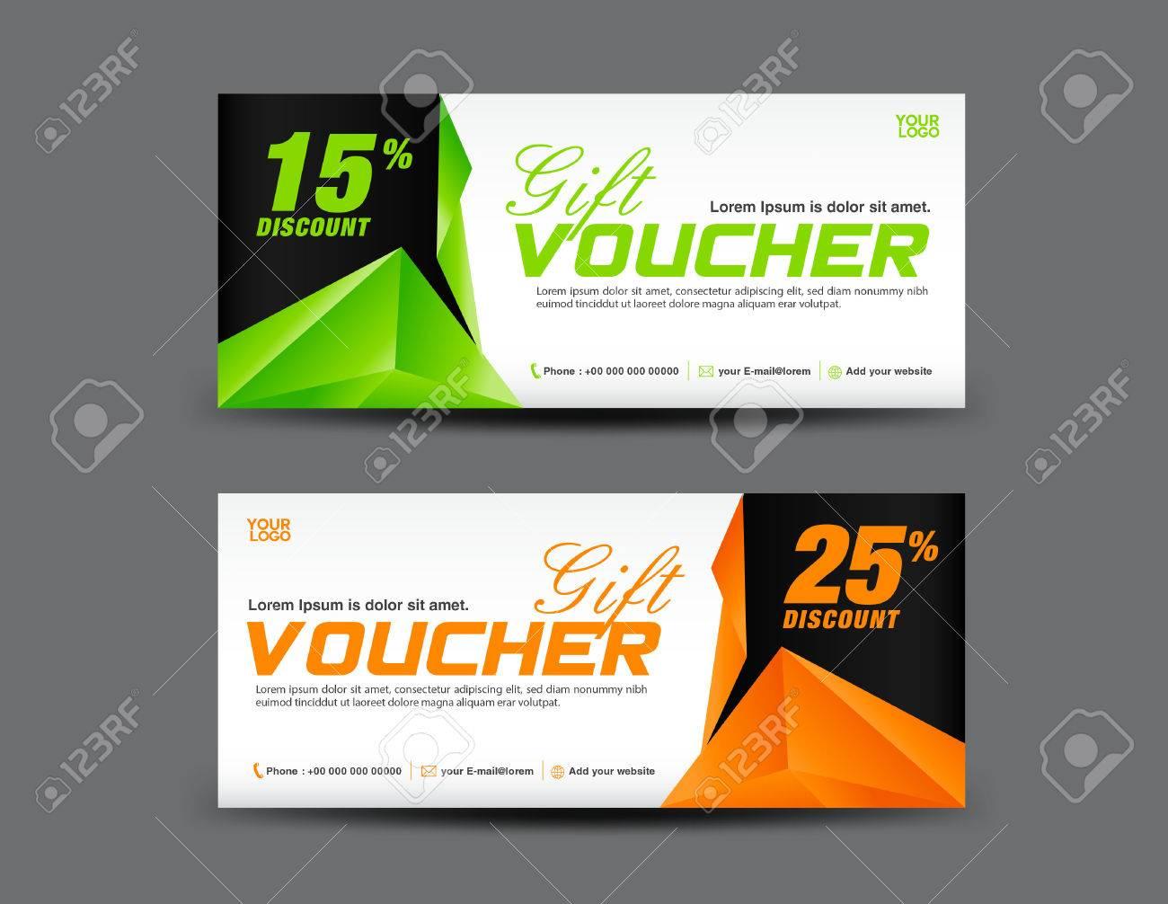 gift voucher template coupon design discount voucher template