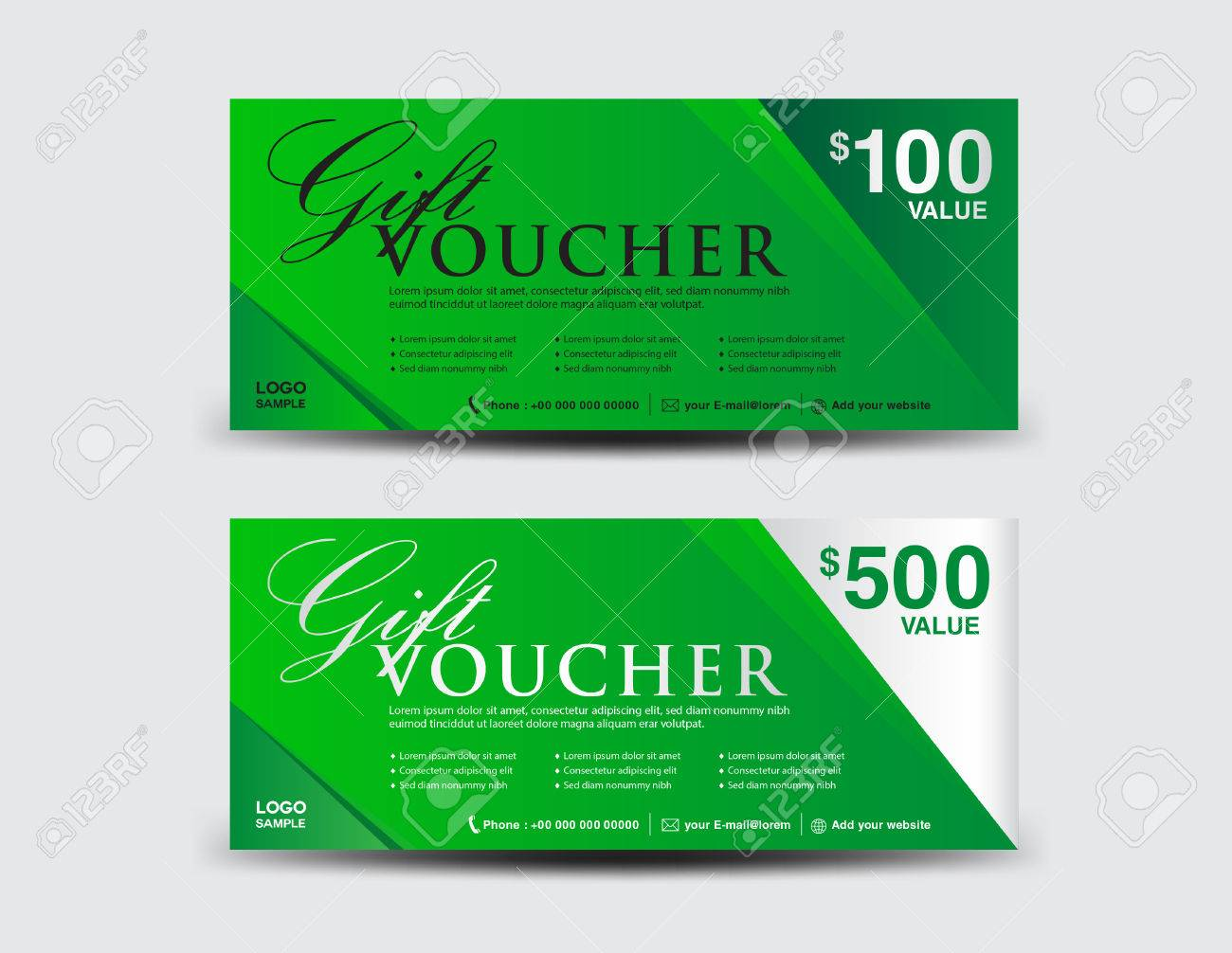 Gutschein Design | Grune Geschenk Gutschein Vorlage Coupon Design Ticket Discount