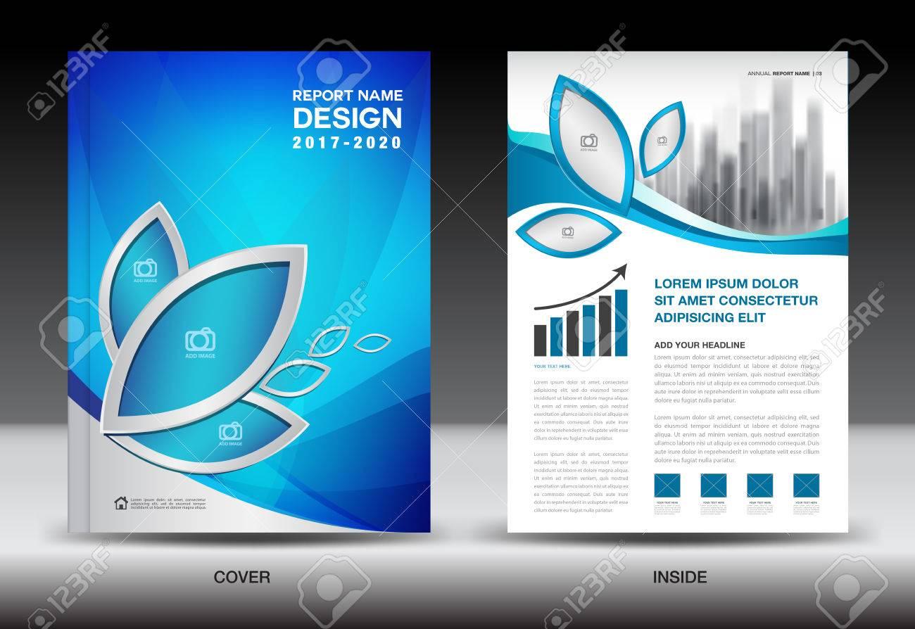 Broschüre Vorlage Layout, Blue Cover Design, Geschäftsbericht ...