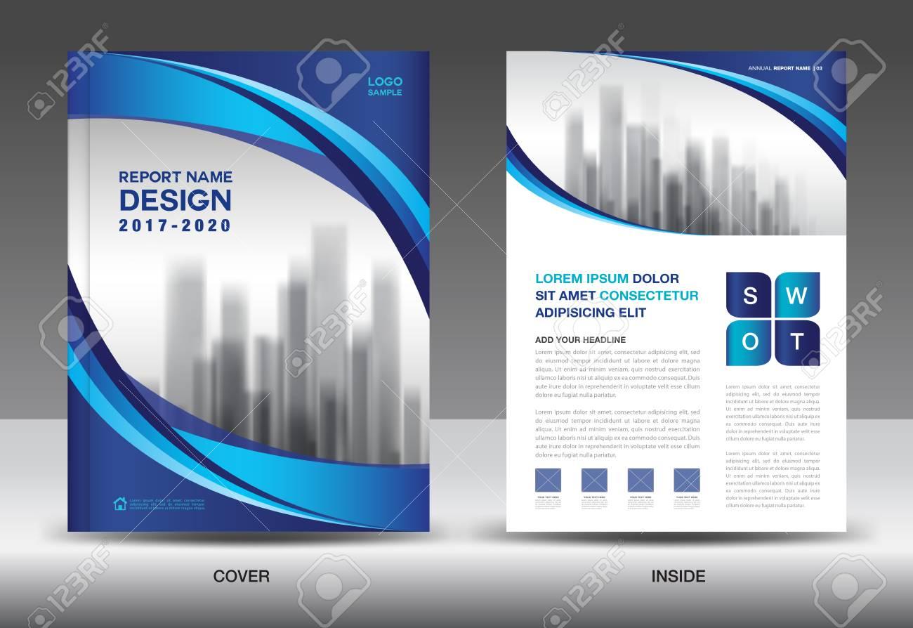 Diseño De Plantilla De Folleto, Diseño De Portada Azul, Informe ...