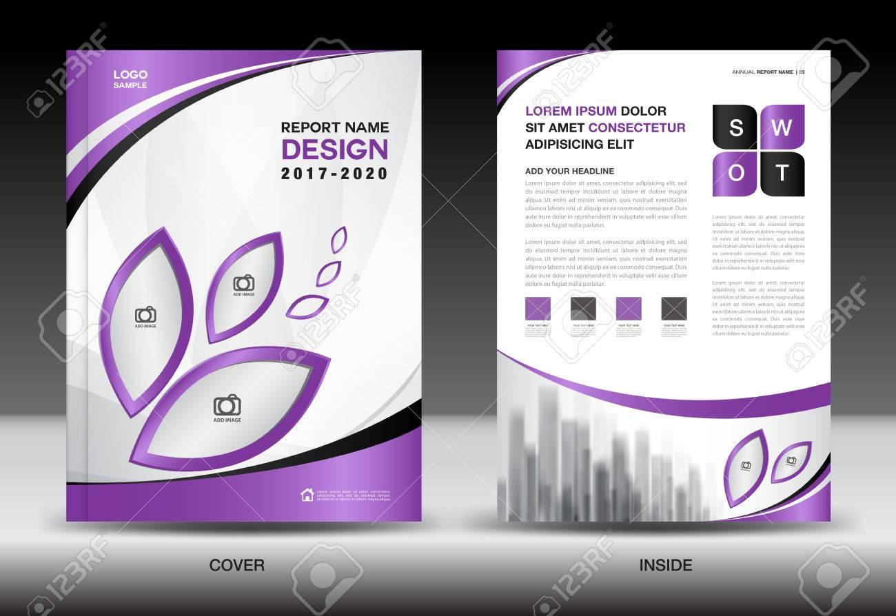 Broschüre Vorlage Layout, Lila Cover-Design, Jahresbericht, Magazin ...