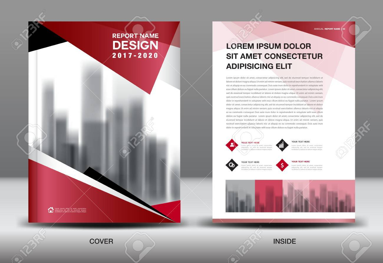 Business Brochure Flyer Templater, Red And Black Cover Design ...