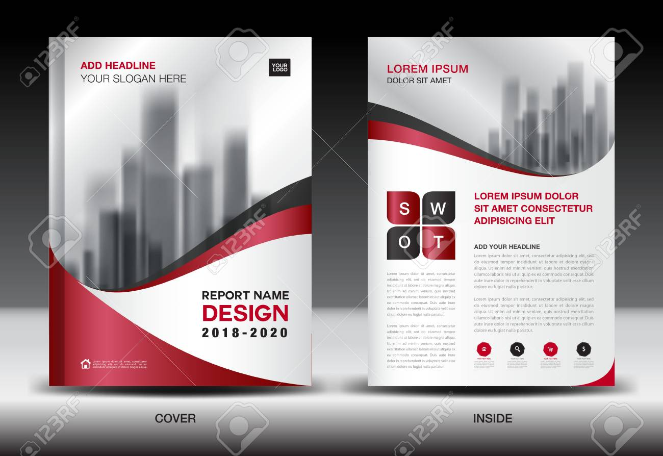 Business Brochure Flyer Templater, Red Cover Design, Annual Report ...