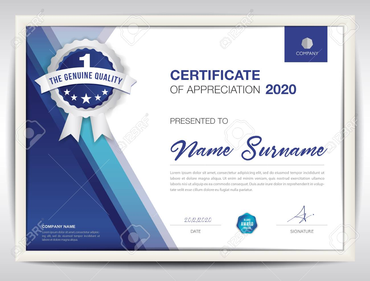 Certificate template vector illustration diploma layout in a4 certificate template vector illustration diploma layout in a4 size business flyer design advertisement wajeb Images