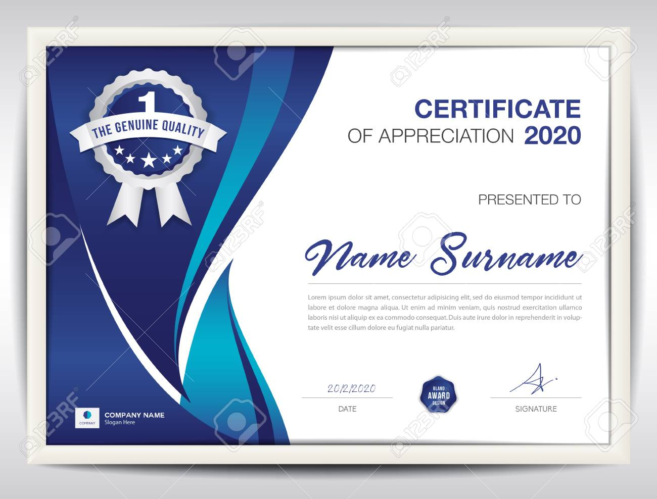 certificate template vector illustration diploma layout in a4