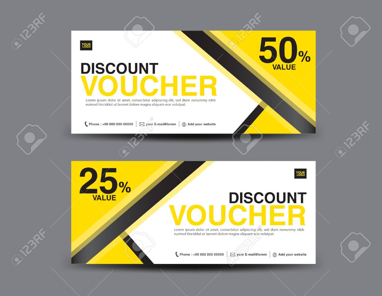 Yellow gift voucher template layout business flyer design abstract yellow gift voucher template layout business flyer design abstract background coupon ticket cheaphphosting