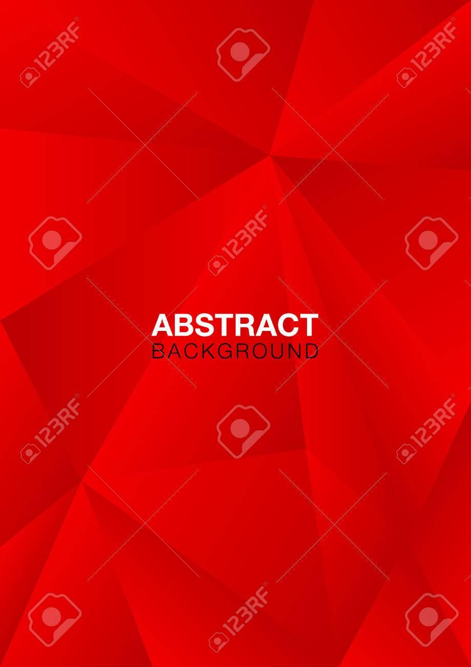 赤いポリゴン背景 ベクトル図 抽象的なテクスチャ 壁紙 カバー チラシ テンプレート 本のレイアウト 小冊子 のイラスト素材 ベクタ Image